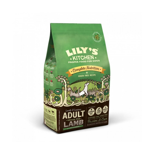 Croquettes sans céréales pour chien adulte à l'agneau Lily's Kitchen Sac 7 kg