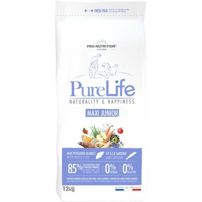 Croquettes sans céréales Pure Life Flatazor Pro Nutrition pour chiot de grande race