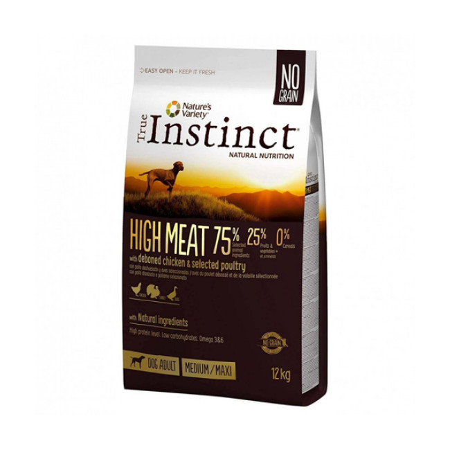 Croquettes True Instinct High Meat Medium et Maxi Adult pour chien