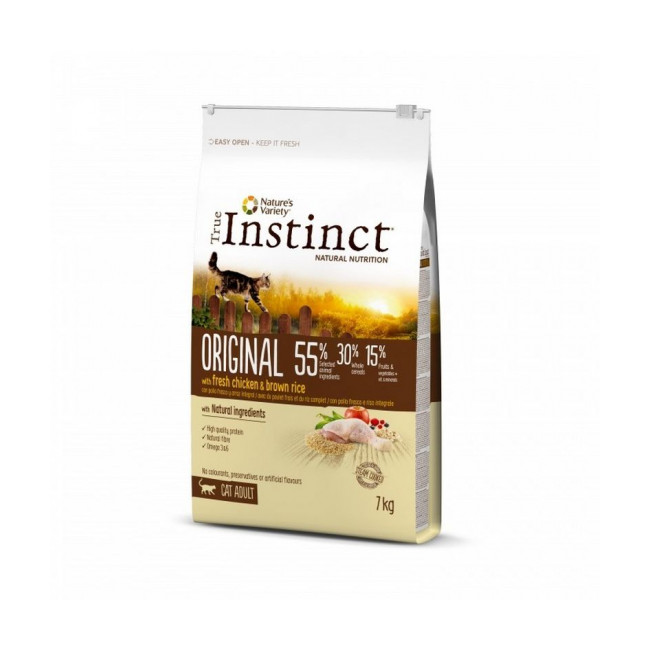 Croquettes pour chat adulte Original True Instinct au poulet