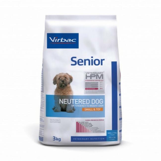 Croquettes Virbac HPM Senior Neutered Small & Toy pour chien