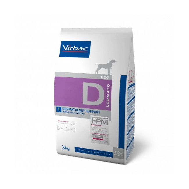 Croquettes Virbac pour chien Veterinary HPM Dermatology support