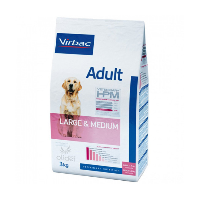 Croquettes Virbac Veterinary HPM Adult Large et Medium