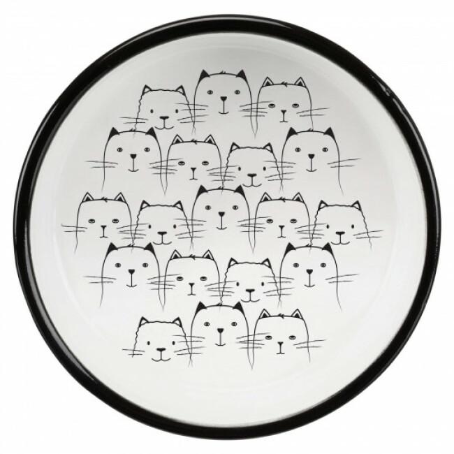 Écuelle céramique chat pour races à museau court 0,3 L