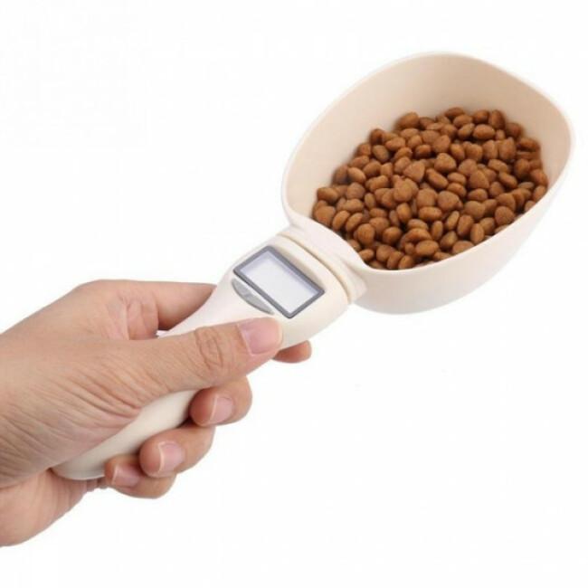 Cuillère mesureuse électronique pour croquettes