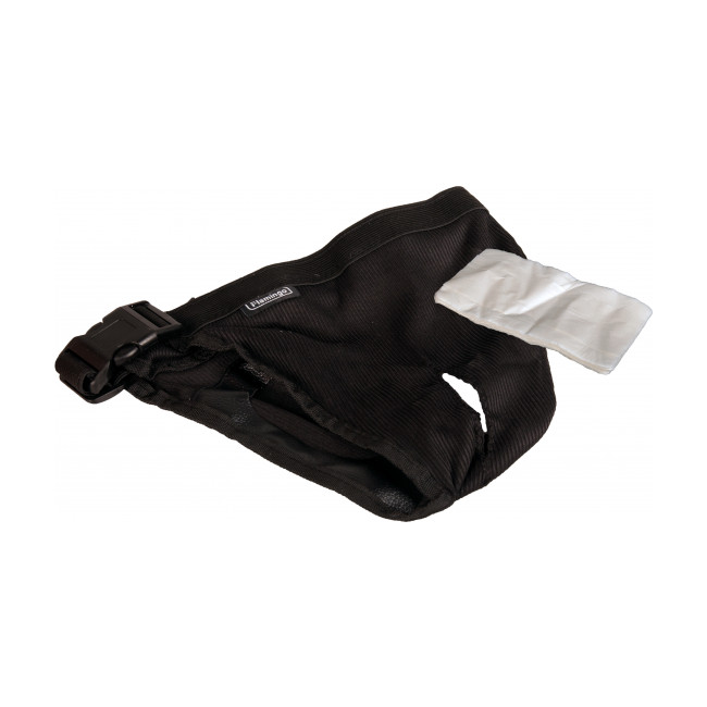 Culotte périodique pour chienne Jolly Flamingo noire