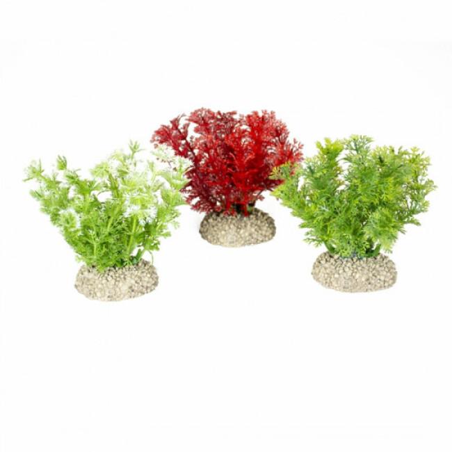 Décoration pour aquarium buisson dense coloré en plastique