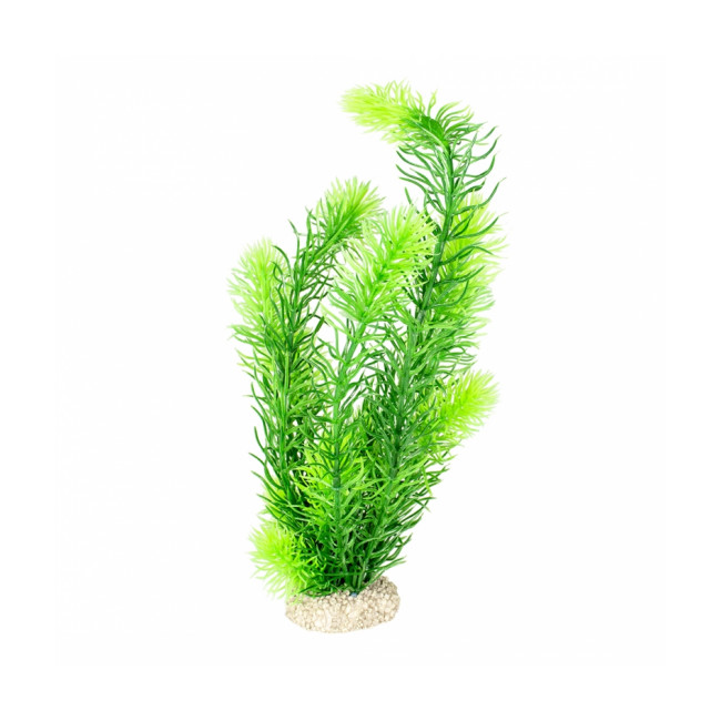Décoration pour aquarium plante artificielle verte