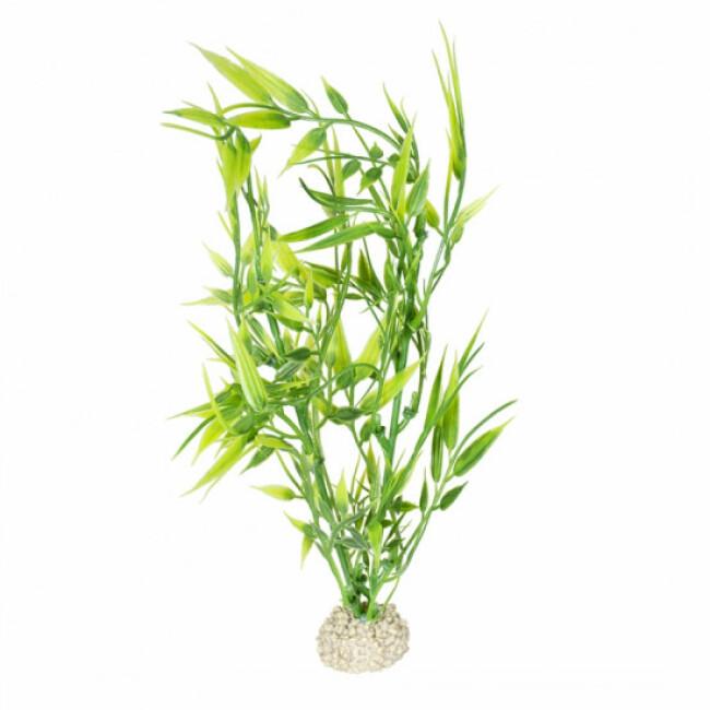 Décoration pour aquarium plante bambou flexible