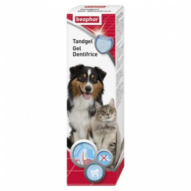 Dentifrice gel haleine fraîche pour chien et chat Beaphar