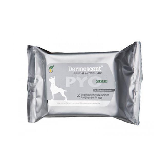 Dermoscent Pyo Clean 20 lingettes pour chiens et chats