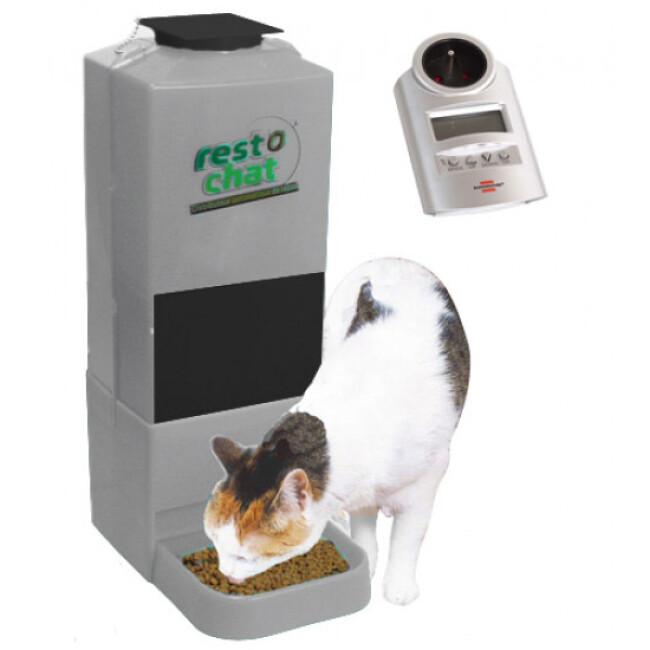 Distributeur croquette automatique et programmable pour petit chien ou chat