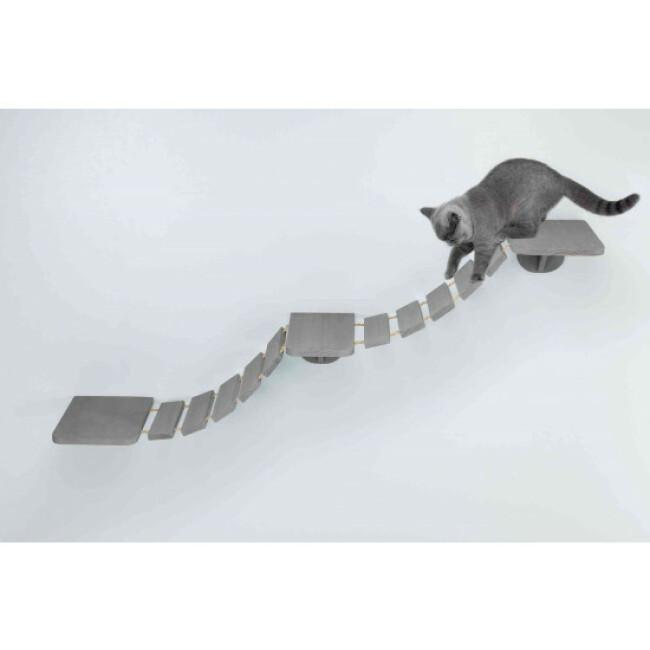 Echelle d'escalade pour chat en bois et sisal Montage mural