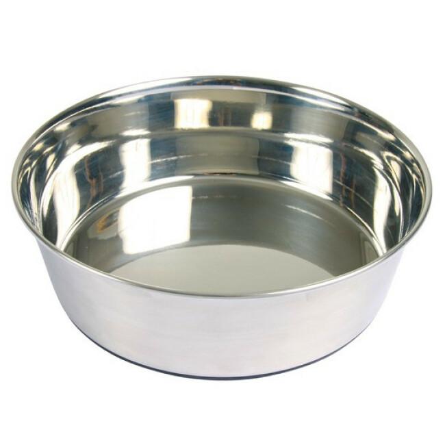 Écuelle en acier inox anti-dérapante Trixie pour chiens