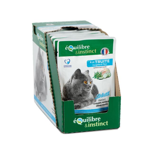 """Effilés """"Sérénité"""" à la truite Equilibre et Instinct pour chat stérilisé"""