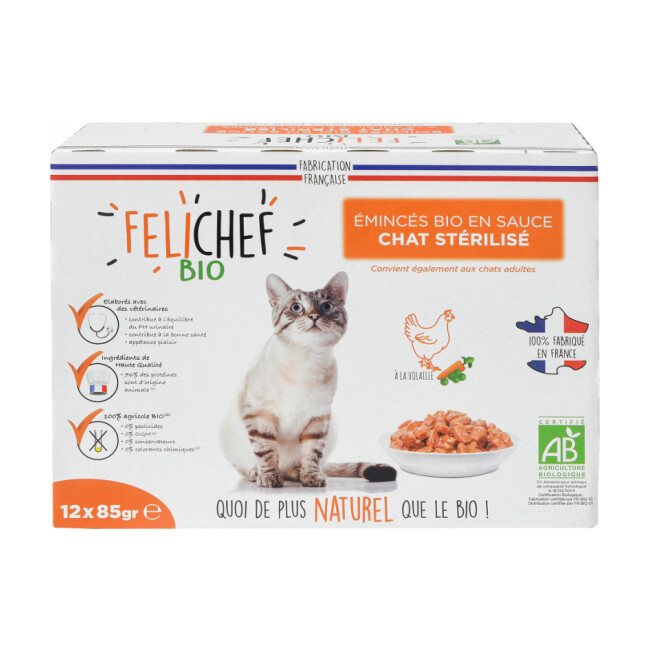 Emincés Felichef Bio pour chat