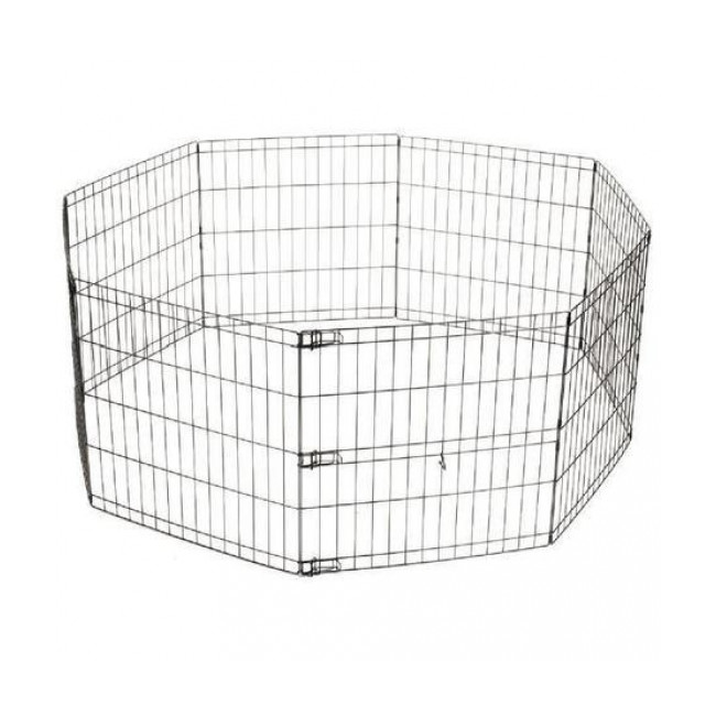 Enclos métal pliable pour chiot 62 cm x 66 cm M-Pets