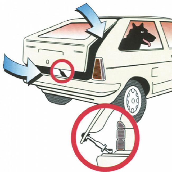 Entrebâilleur de coffre de voiture Airkit pour transport de chien