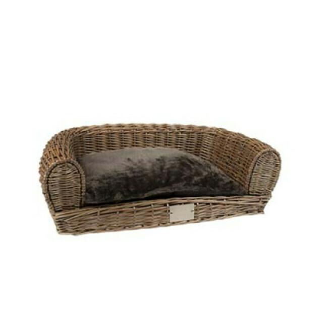 Fauteuil en osier Duvoplus avec coussin pour chien