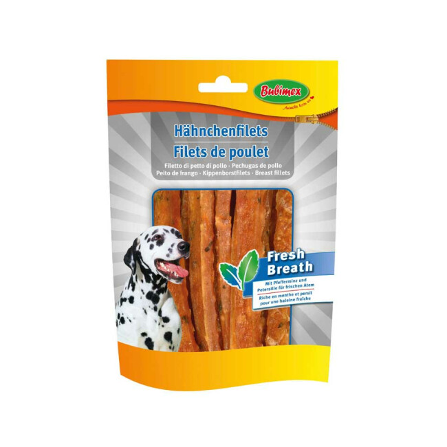 Filets de poulet Bubimex Fresh Breath pour chien