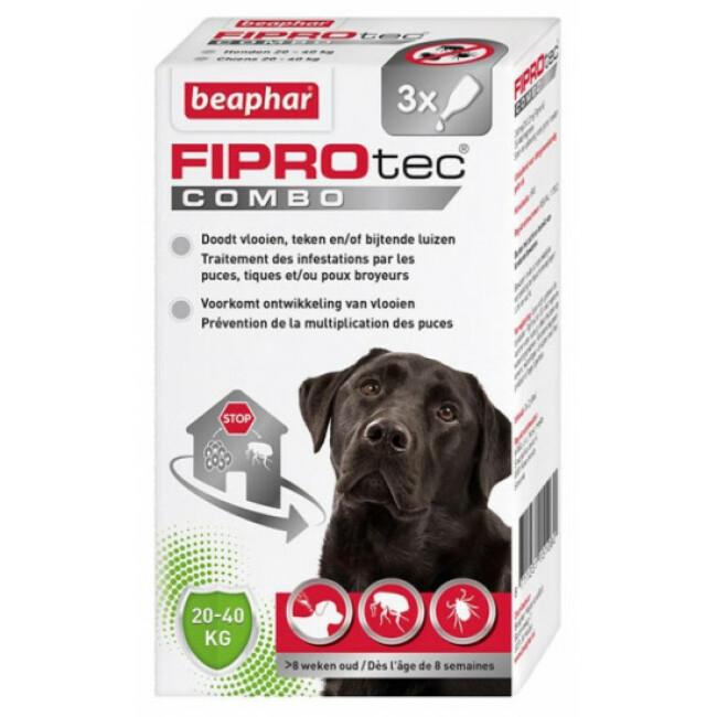 FIPROTEC COMBO pipettes anti puces, tiques et poux broyeurs