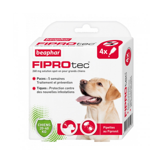 Fiprotec pipettes antiparasitaires pour chien Beaphar