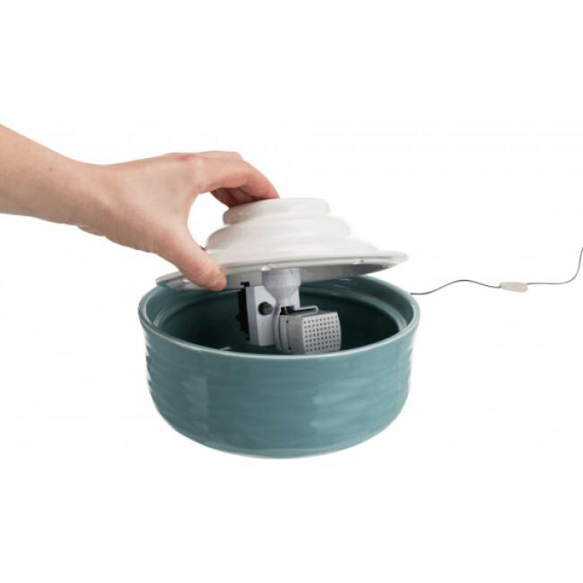 Fontaine d'eau en céramique pour chien et chat Vital Falls 1.5 L