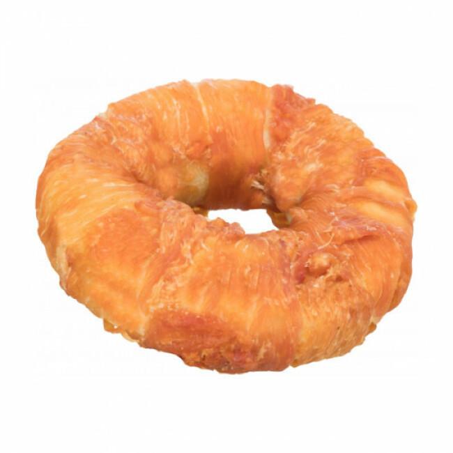 Friandise Donut poulet fourré au boeuf pour chien