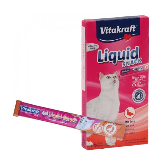 Friandise liquide Cat Liquid-Snack au canard et au bœuf pour chat