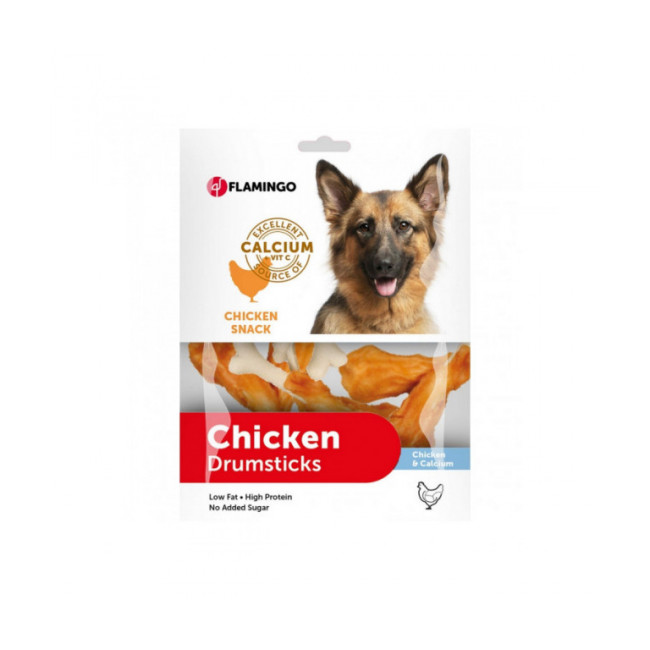 Friandise pour chien Chick'n Snack Calcium Bone Flamingo 400 g ou 85 g