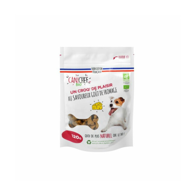 Friandises Canichef Bio au fromage pour chien