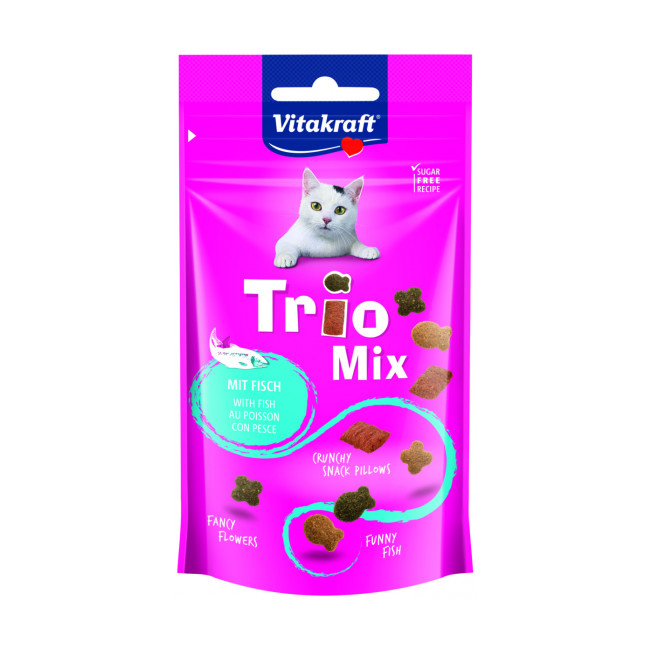 Friandises croquantes pour chat Vitakraft Trio Mix 60 g
