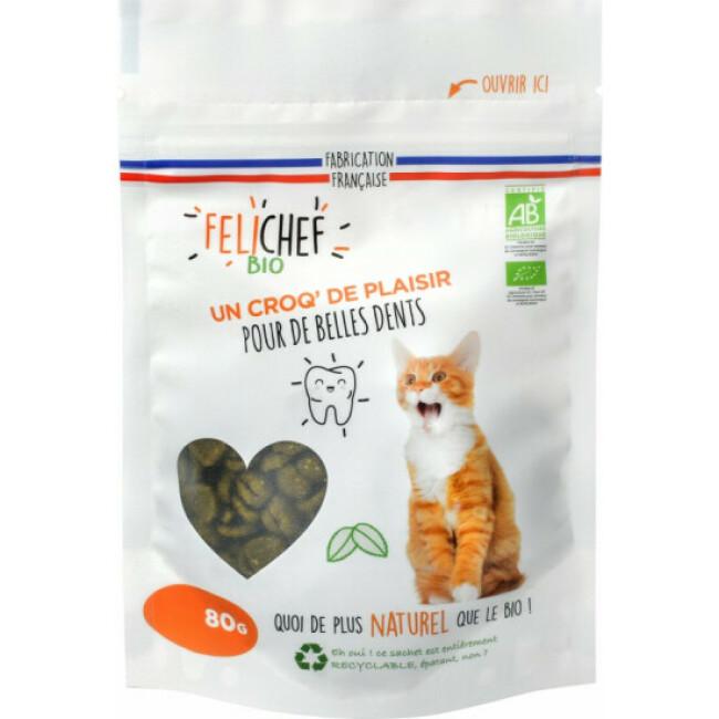 Friandises Felichef Bio pour hygiène dentaire du chat