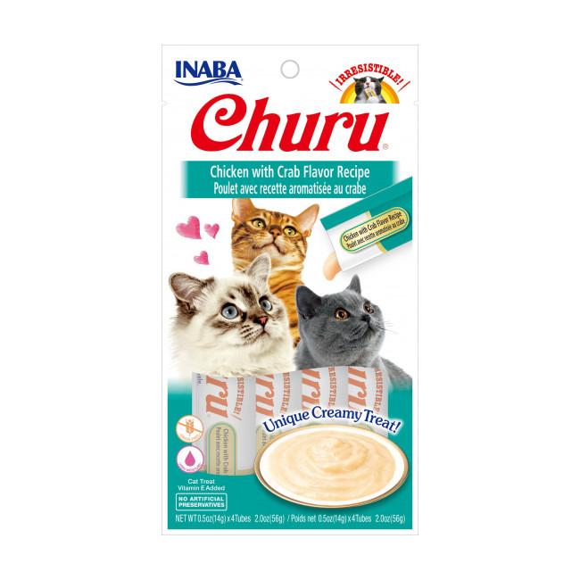 Friandises liquides pour chat Churu crème au poulet