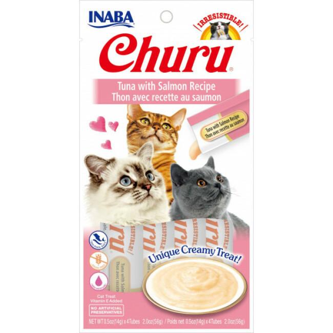 Friandises liquides pour chat Churu crème au thon