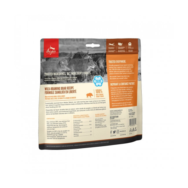 Friandises Orijen Wild Boar treats pour chat Sachet 35 g