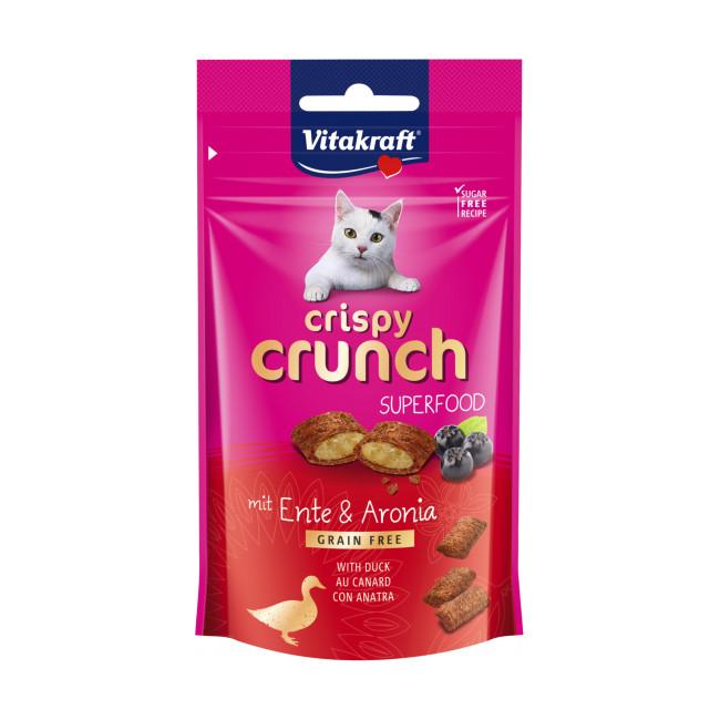 Friandises sans céréales pour chat Crispy Crunch Superfood 60 g