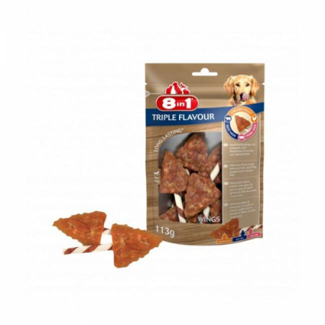 Friandises Triple Flavour 8in1 ailes de poulet à mâcher pour chien