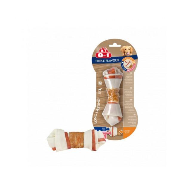 Friandises Triple Flavour 8in1 os à mâcher pour chien