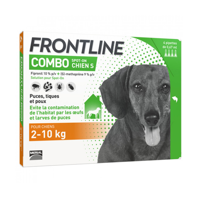 Frontline anti puce et tique Spot on pour chien combo