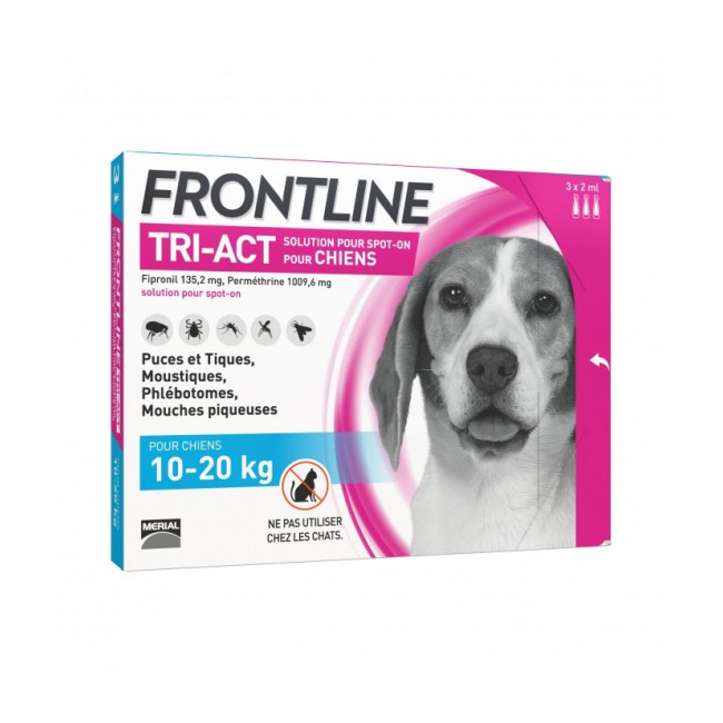 Frontline Tri-Act pipettes antiparasitaires pour chien
