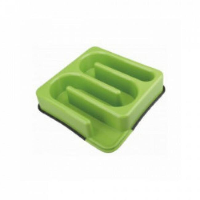 Gamelle anti glouton carrée labyrinthe M-Pets 1,2 litres