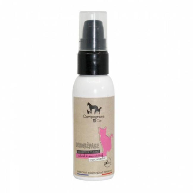 Gel naturel réparateur cutané pour chat Dermrépare 50 ml