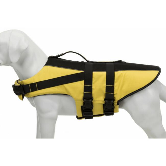 Gilet de sauvetage jaune et noir pour chien Trixie