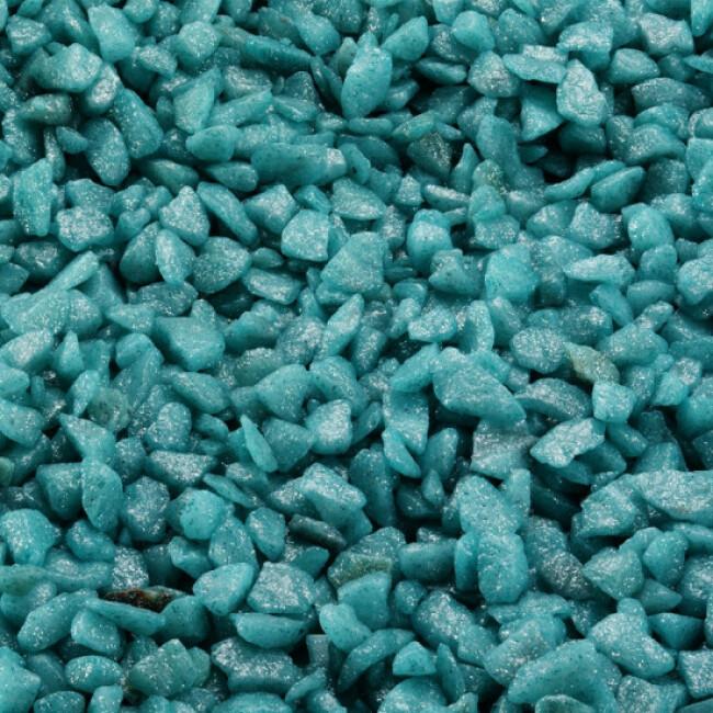 Gravier épais 6-9 mm pour fond d'aquarium Coloré - Sac 2 kg
