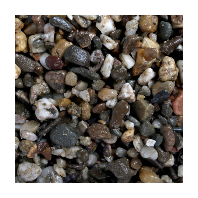 Gravier épais 3-6 mm naturel pour fond d'aquarium