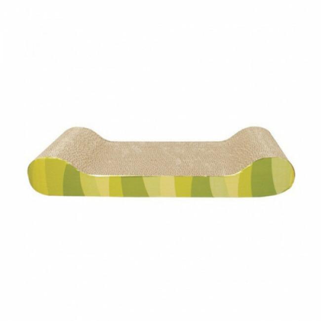 Griffoir en carton pour chat nouvelle génération Cat'It vert
