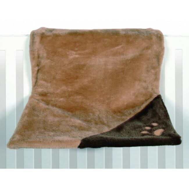 Hamac en peluche pour chat adaptable radiateur Trixie marron