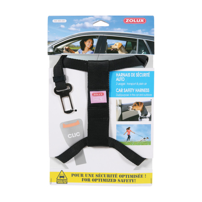 Harnais sécurité auto pour chien