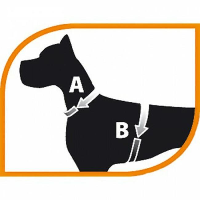 Harnais souple pour chien à micro-régulation Ergoflex P Ferplast vert